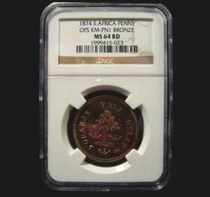 1874 Transvaal Pattern, Bronze Penny