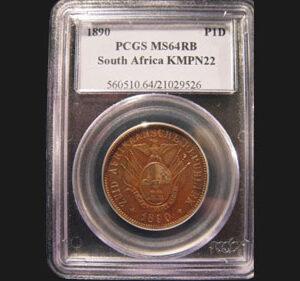 1890 Transvaal Pattern, Bronze Penny