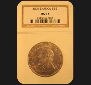 1896 Silver Two & Half Shillings
