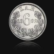 1892 Sixpence